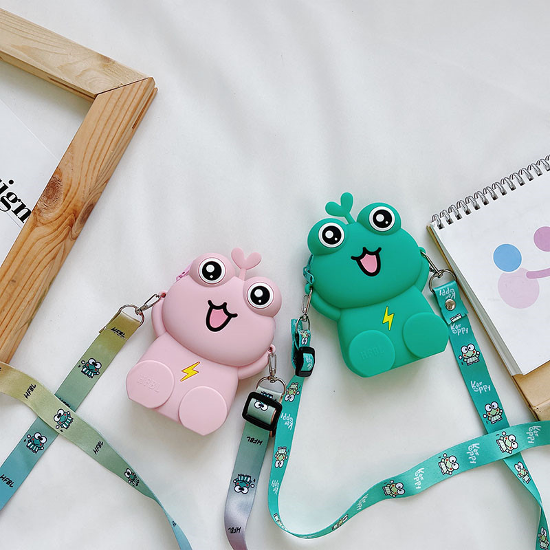 Smile Frog Silicone Wallet Shoulder Bag Coin Purse