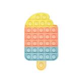 Rainbow Ice Cream Pop It Fidget Toy Push Pop Bubble Sensory Fidget Toy Stress Relief for Kids & Adult