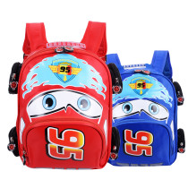 Students Racing Cars Kindergarten Schoolbag Backpack Bag
