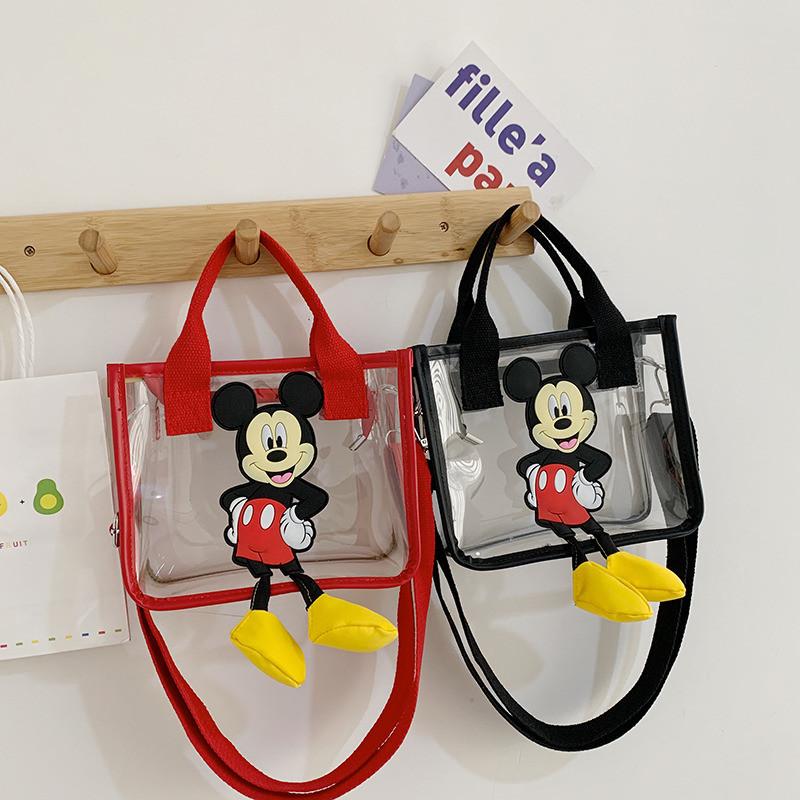 Cartoon Mickey Transparent Shoulder Bag Handbag