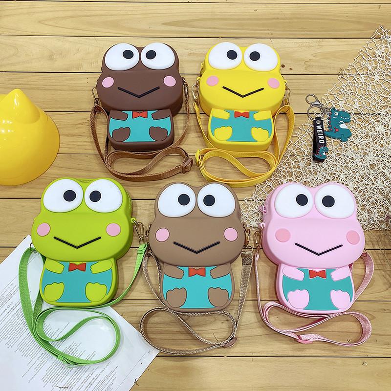 Cute Big Eyed Frog Silicone Coin Purse Single Shoulder Bag
