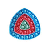 Ombre Triangular Ferrule Pop It Fidget Toy Push Pop Bubble Sensory Fidget Toy Stress Relief for Kids & Adult