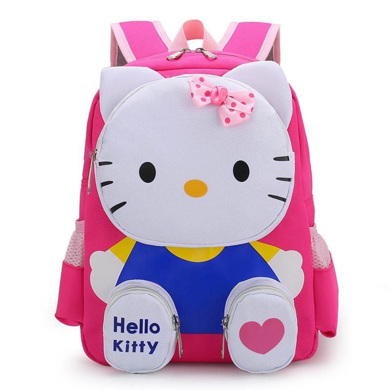 Primary Kindergarten Hello Kitty Schoolbag Lightweight Waterproof Backpack School Bag