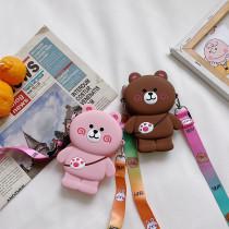 Cute Cartoon Kumamoto Bear Silicone Mini Single Shoulder Bag