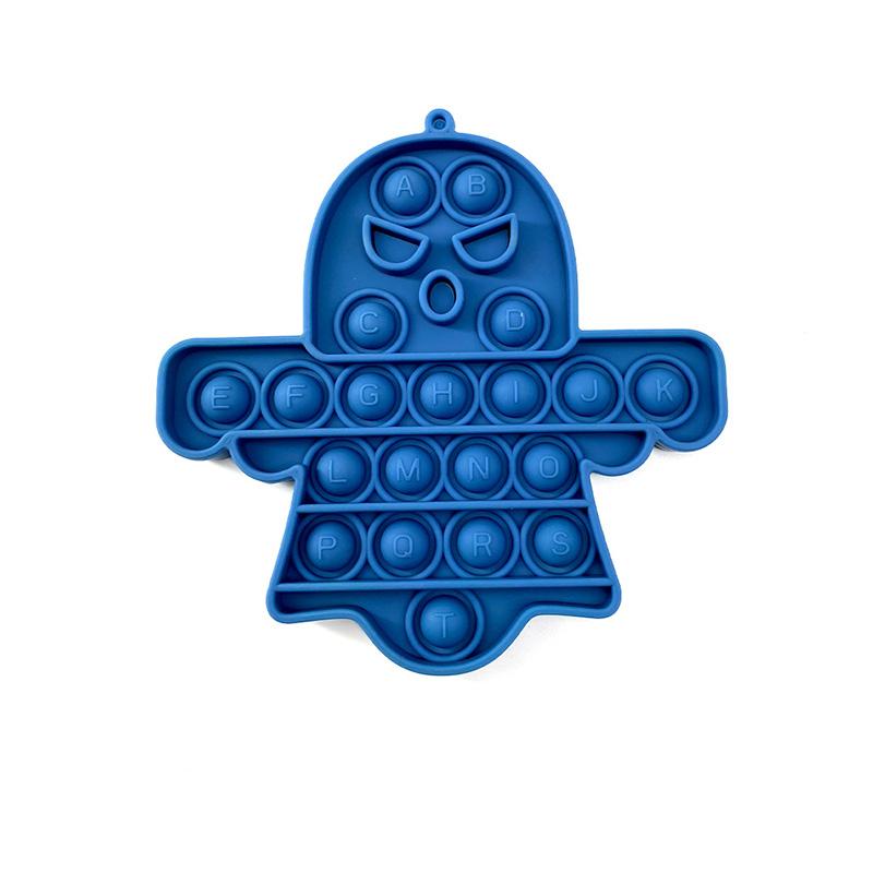 Halloween Ghost Pop It Fidget Toy Push Pop Bubble Sensory Fidget Toy Stress Relief for Kids & Adult