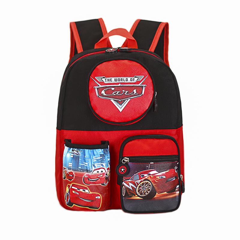 Toddler Kids Red Racing Cars Kindergarten Schoolbag Backpack Bag