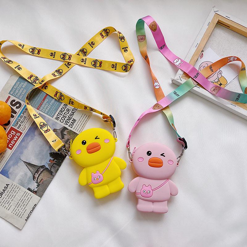 Cute Cartoon Duck Silicone Mini Single Shoulder Bag