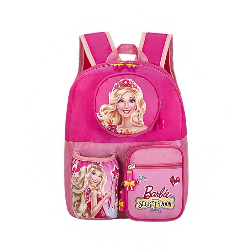Kids Disney Princess Barbie Whie Snow Princess Kindergarten Schoolbag Backpack Bag