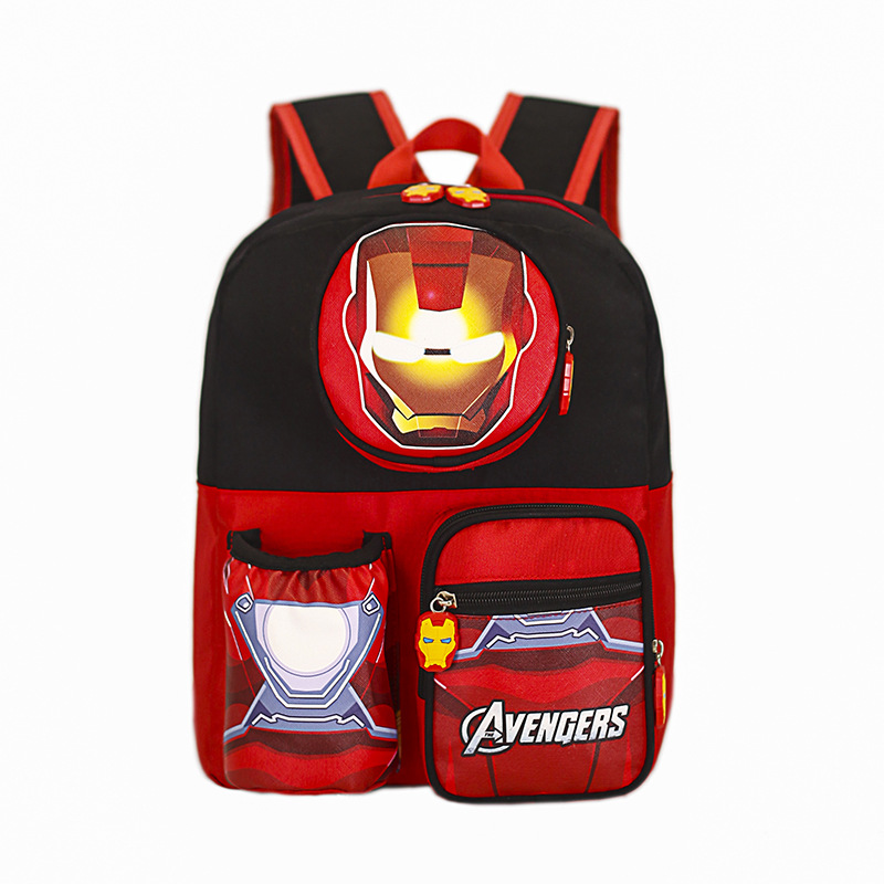 Kids Red Iron Kindergarten Schoolbag Backpack Bag