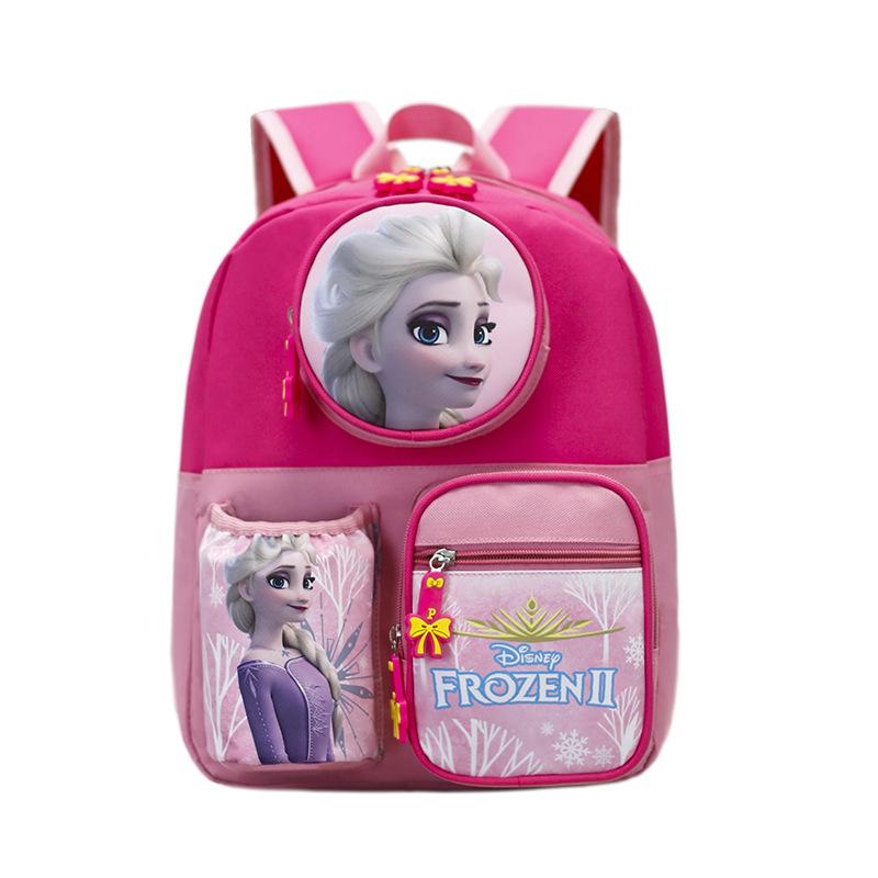 Kids Pink Frozen Princess Kindergarten Schoolbag Backpack Bag