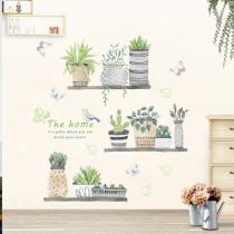 Home Decorative Cactus Wall Stickers Wallpaper Art Living Room Dormitory Bedroom Decoration