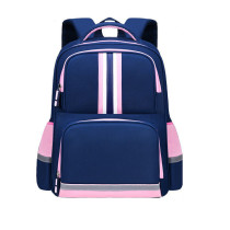 Stripes Students Waterproof Primary Schoolbag Canvas Backpack Bag