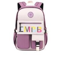 Pupils Backpack Letter Waterproof Cute School Bag