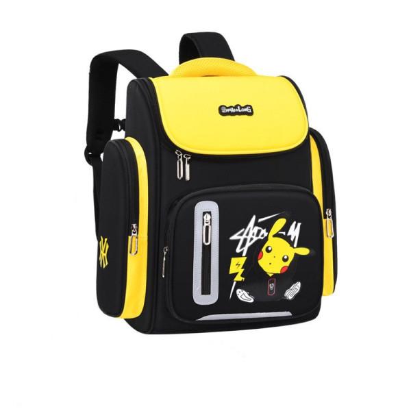 Cartoon Pikachu Students Waterproof Schoolbag Canvas Backpack Bag