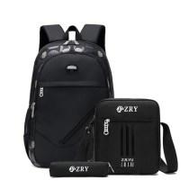 Elementary School Students Backpack Bag Waterproof Schoolbag 3 Sets
