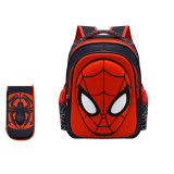 Primary School Backpack Spiderman Student Backpack With Stationery Box