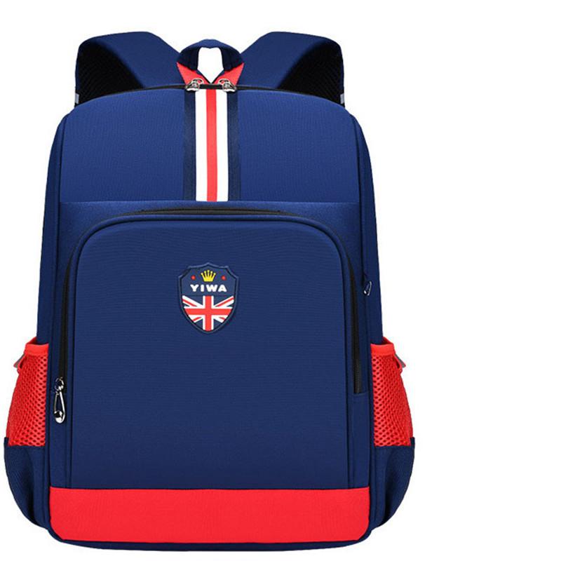 Primary School Backpack Space Stripe Waterproof School Bag