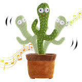 Toys Dancing Cactus Toy Singing Wiggle Electric Cactus Plush Toys for Kids