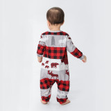 Christmas Family Matching Sleepwear Pajamas Sets Red Plaids Deers Bears Family Pajamas