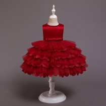 Baby Toddler Girl Tutu Four Layers Princess Sleeveless Dresses Birthday Party Gown Dress