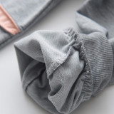 Girl Cute Fox Long Sleeve Sweatshirt and Sports Pants Set Outfit