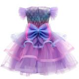 Girl Tutu Gauze Princess Mermaid Gown Dresses