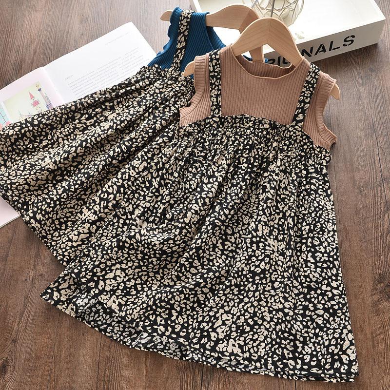 Girls Floral Summer Sleeveless Dress