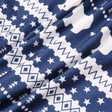 Toddler Kids Boys and Girls Christmas Pajamas Navy Papa Mama Bear Top and Snow Geometrical Pattern Pants Sets