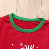 Toddler Kids Boys and Girls Christmas Pajamas Sets Red Deer Stars Top and Christmas Pattern Pants