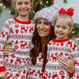 Toddler Kids Boys and Girls Christmas Pajamas Sets Red Deers Top and Snow Pants