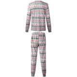 Toddler Kids Boys and Girls Christmas Pajamas Sets White Deers Trees Printing Top and Pants