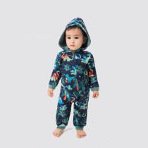 Toddler Kids Boys and Girls Christmas Pajamas Sets Dinosaur Jumpsuit Hooded Pajamas