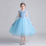 Toddler Girls Frozen Elsa Princess Sequins Tutu Dress