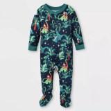 Toddler Kids Boys and Girls Christmas Pajamas Jurassic Dinosaurs Santa Claus Sets