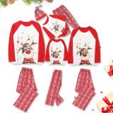 Toddler Kids Boys and Girls Christmas Pajamas Sets Red Deers Top and Plaid Pant