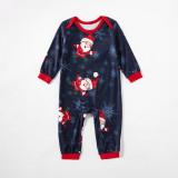 Toddler Kids Boys and Girls Christmas Pajamas Sets Navy Prints Santa Claus Snow Top and  Pants
