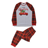 Baby Toddler Kids Boys and Girls Christmas Pajamas Sets Deer Merry Christmas Plaids Top and Pants