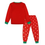 KidsHoo Exclusive Design Red Snowmans Toddler Kids Boys and Girls Christmas Pajamas Sets