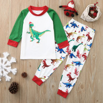 Baby Toddler Kids Boys and Girls Christmas Pajamas Sets Hohoho Slogan Sleepwear Sets
