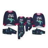 KidsHoo Exclusive Design Navy Merry X-mas Dinosaurs Toddler Kids Boys and Girls Christmas Pajamas Sets