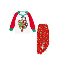 KidsHoo Exclusive Design Baby Toddler Boys Girls Christmas Sleepwear Pajamas Red Grinch Hohoho Slogan Sets