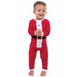 Kids Toddler Boys Girls Christmas Sleepwear Pajamas Santa Claus Red Sleepwear Sets