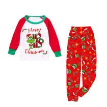 KidsHoo Exclusive Design Kids Toddler Boys Girls Christmas Sleepwear Pajamas Red Grinch Slogan Sets
