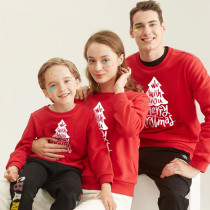 Christmas Matching Family We Wish You Merry Christmas Tree Slogan Family Sweatshirt Tops