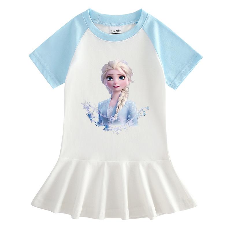 Toddler Girl Ice Princess Short Sleeve Pleated Dress