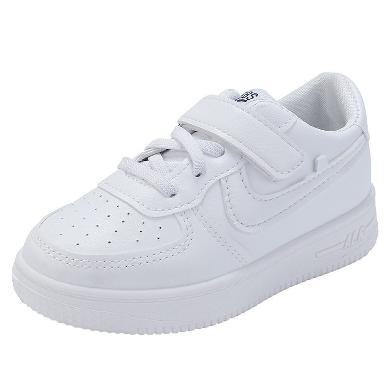 Toddler Boy and Girl Classic White Sneakers Sport Running Shoes
