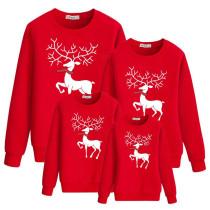 Christmas Matching Family Elk Family Sweatshirt Tops