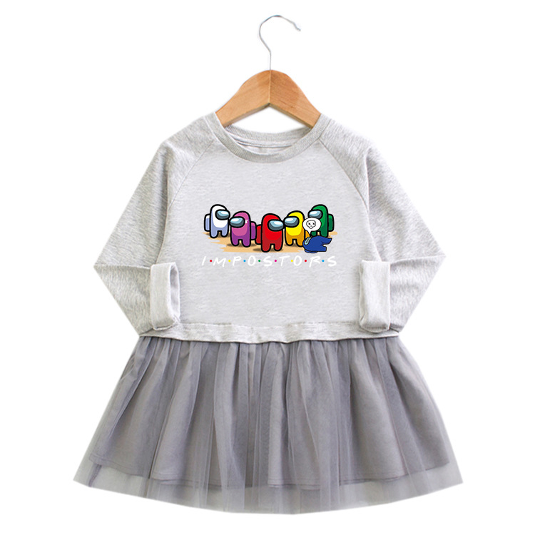 Toddler Girl Among Us Princess A-line Long-Sleeved Mesh Dress
