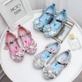 Toddler Girls Frozen Sequins Pearls Flat Girl Dress Shoes