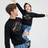 Christmas Matching Family Christmas Flower Colorful Dinosaur Slogan Family Sweatshirt Tops